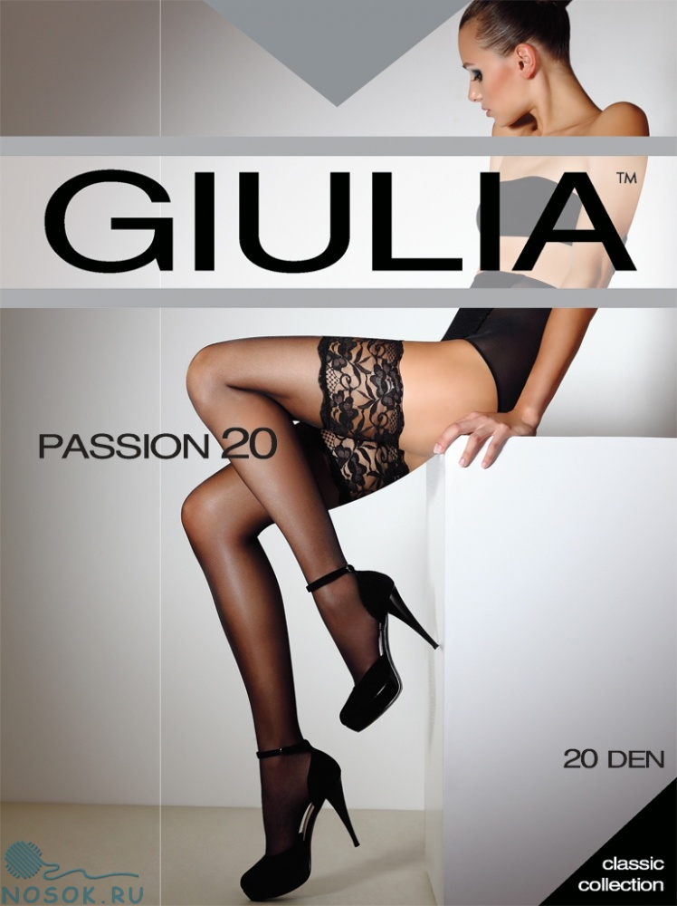 dfb2f2c9a2ef3 Купить Giulia Passion 20, чулки цвета fumo, nero, visone, bianco ...