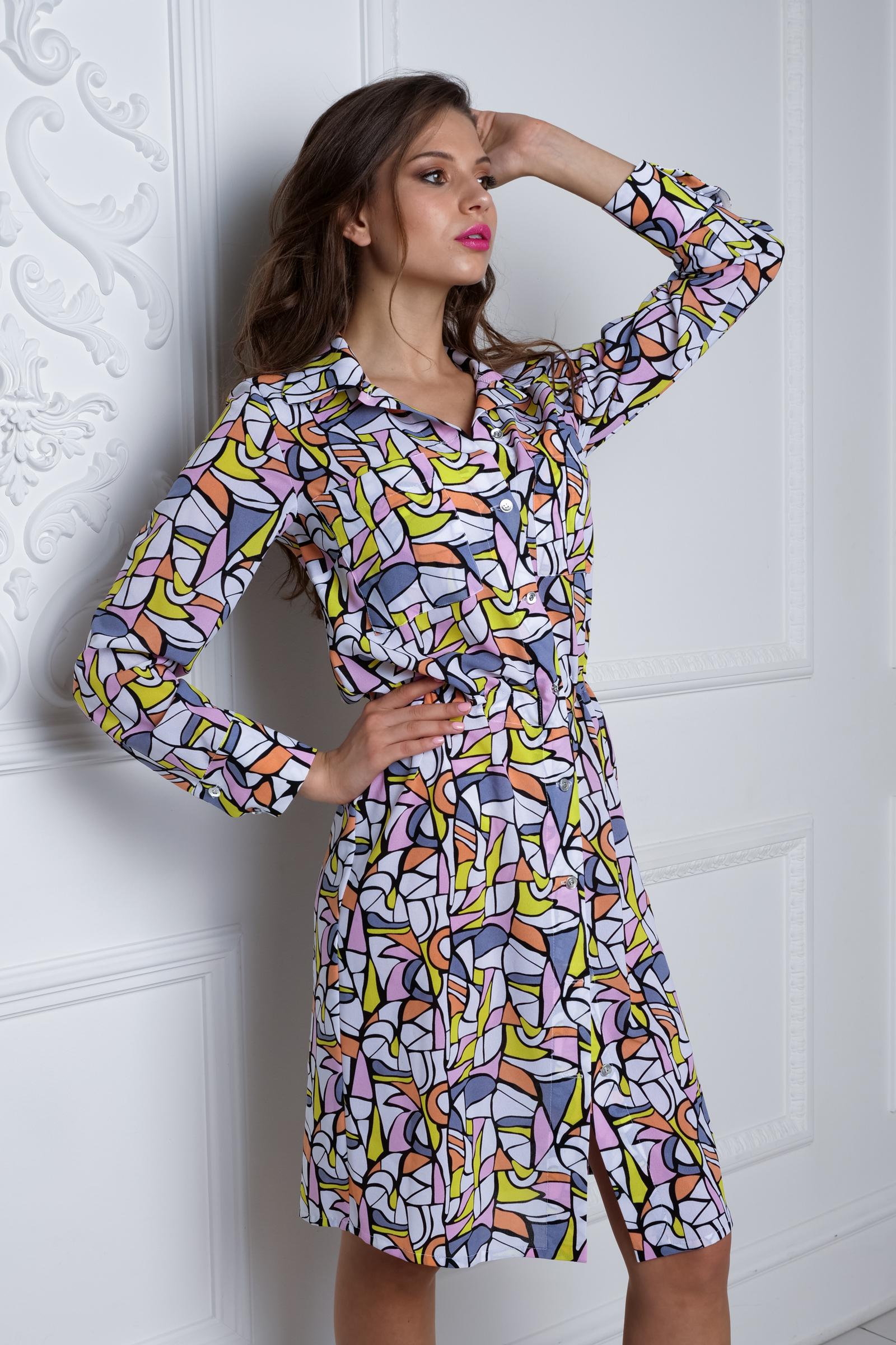 c5bbca3c7fc37 SDRESS laboratory платье-рубашка, абстракция купить в интернет ...