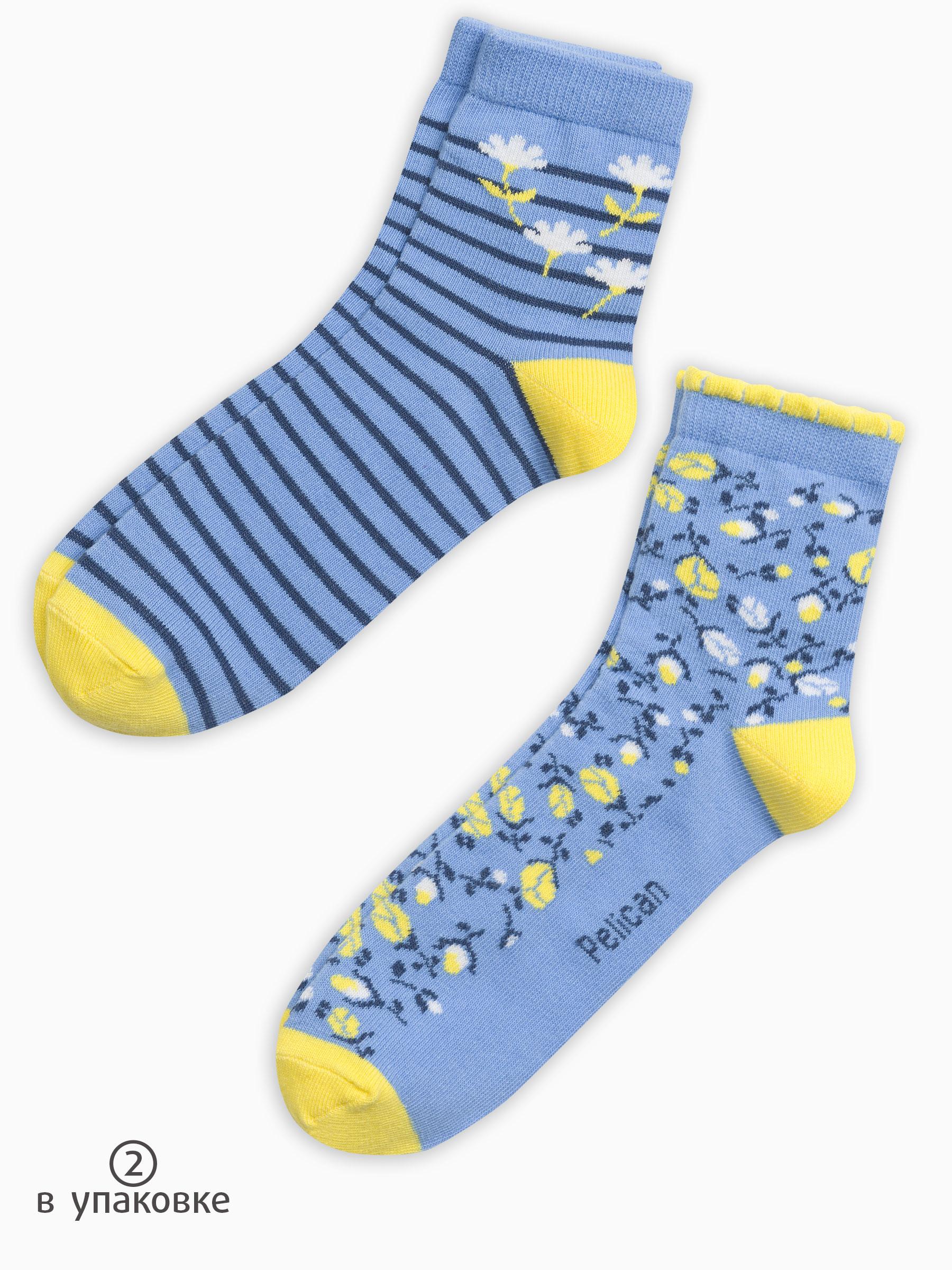 a4ba658e2f964 Pelican GEG3111(2), носки детские для девочек 2 пары цвета желтый ...